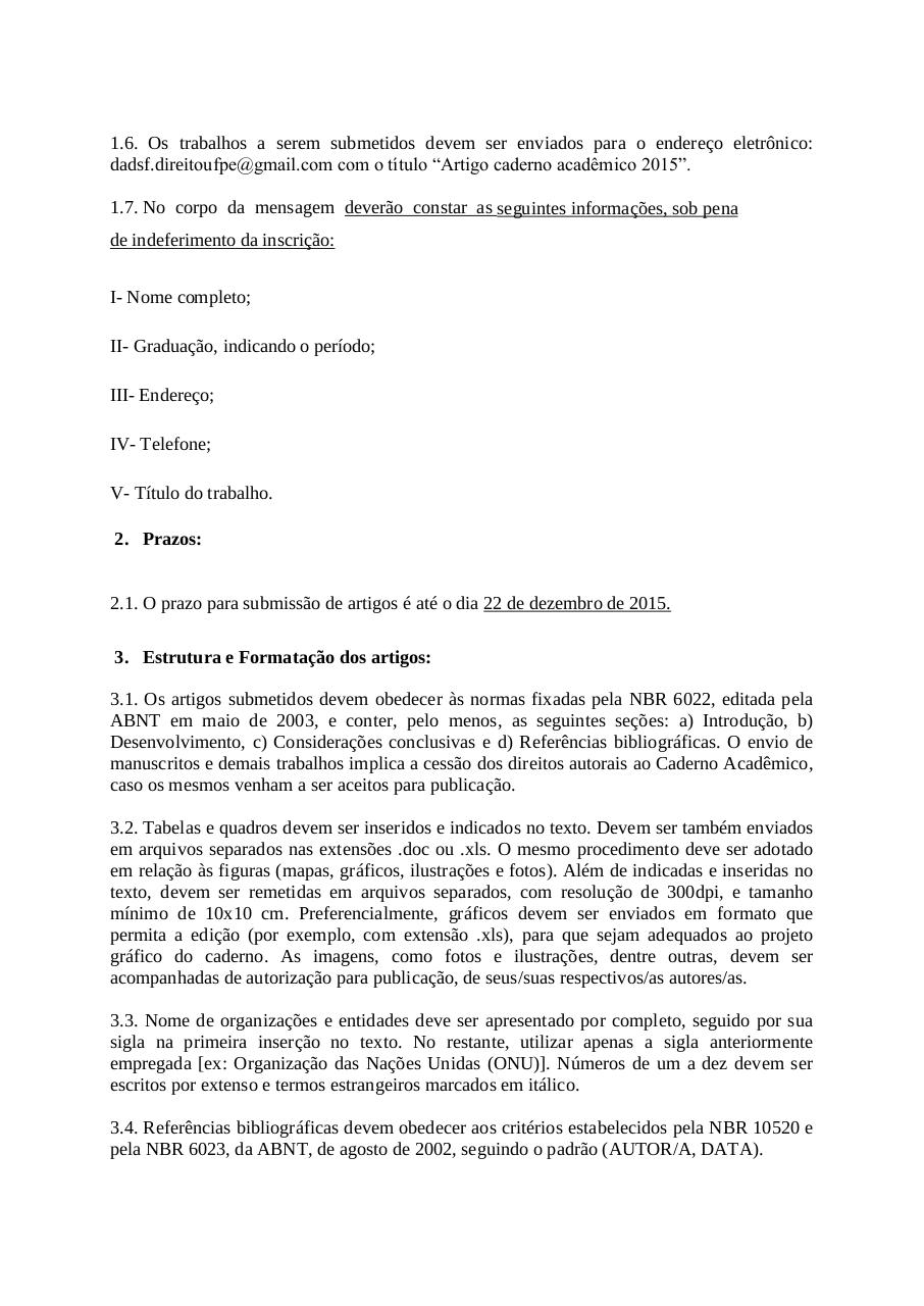 Document preview EditalCadernoAcademico2015-2016.pdf - page 2/5