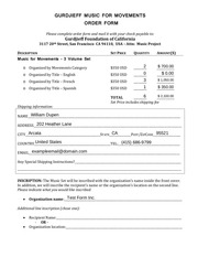 electronic order form