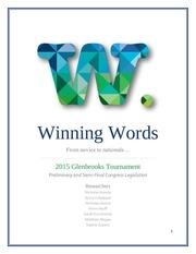 pdf glenbrooks congress 2015 winning words