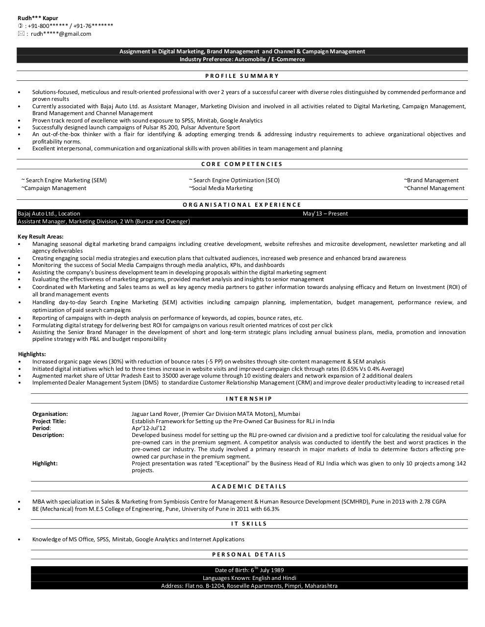 marketing objectives of bajaj pulsar Bajaj pulsar-marketing mix report - download as word doc (doc / docx), pdf file (pdf), text file (txt) or read online.
