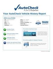 2003 lexus rx300 autocheck report jtjhf10u930294977