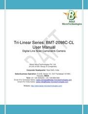 bmt 2098c cl user manual cameralink line scan camera