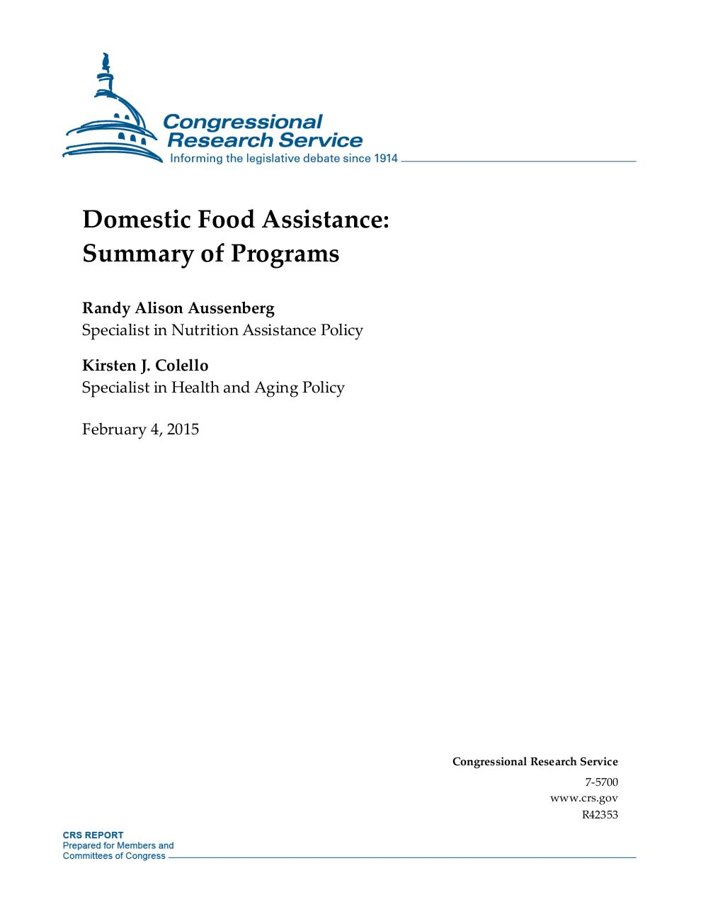 Domestic Food Assistance.pdf - page 1/22