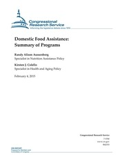 domestic food assistance