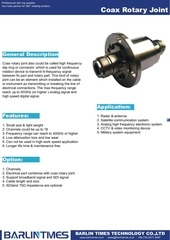 coax rotary joint