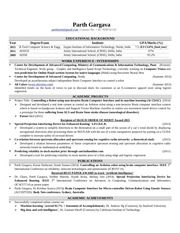 resume parth