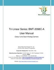 PDF Document bmt 2098c a user manual analog line scan cameras