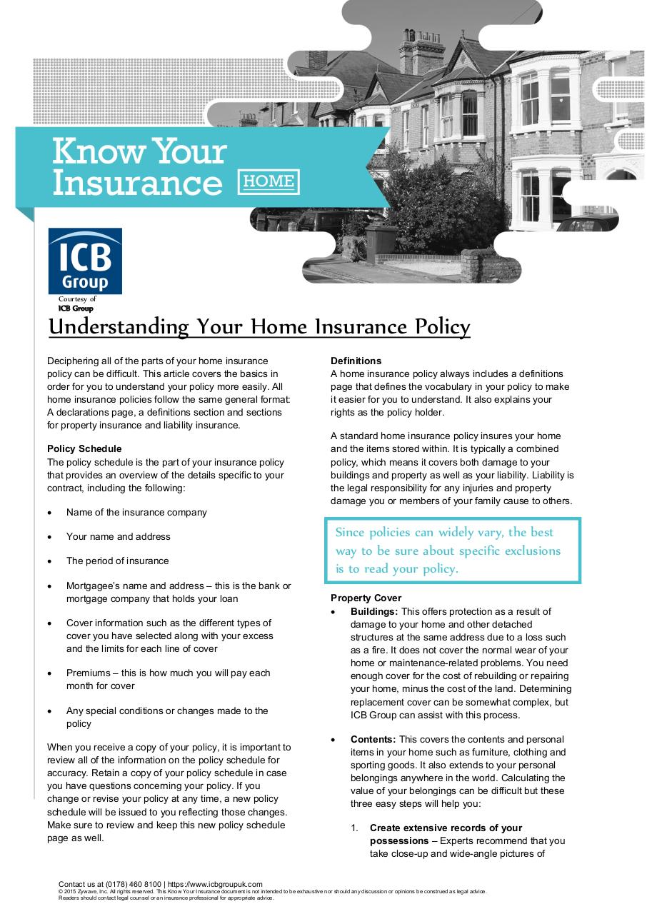 Document preview Understanding Your Home Insurance Policy.pdf - page 1/2