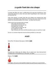 le guide frank des vins cheaps 1