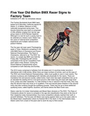 factory bombshell bmx press release