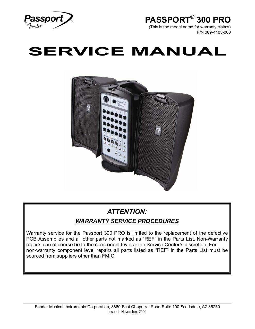 Passport 300 Pro Service Manual NO DIAGRAMS.pdf - page 1/23