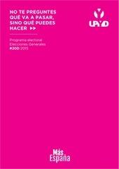 programa upyd elecciones generales 2015