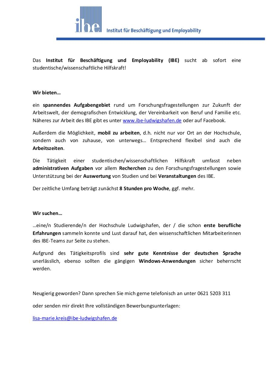 Document preview studentische_wissHilfskraft IBE.pdf - page 1/1