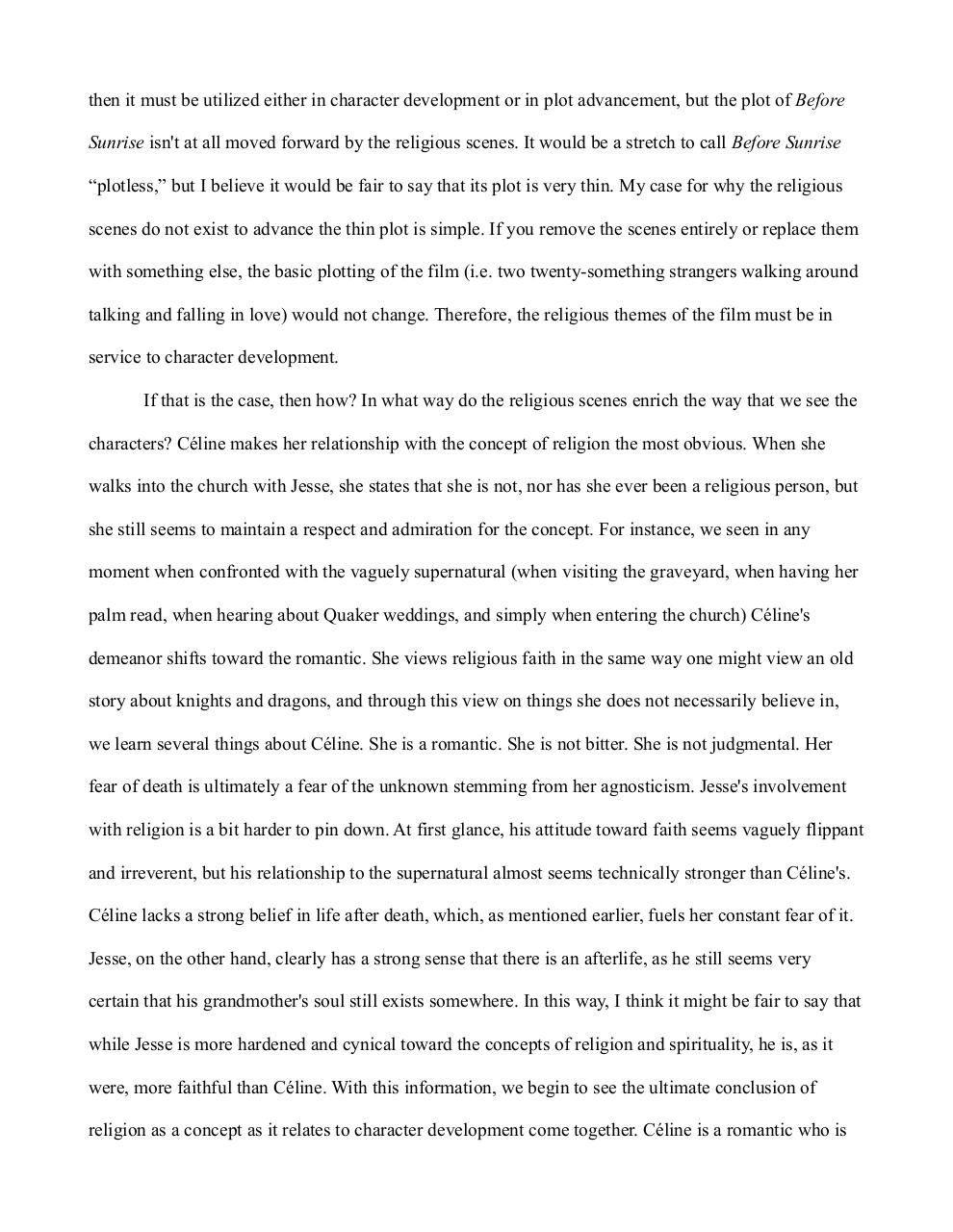 Document preview Before Sunrise Religion.pdf - page 2/3