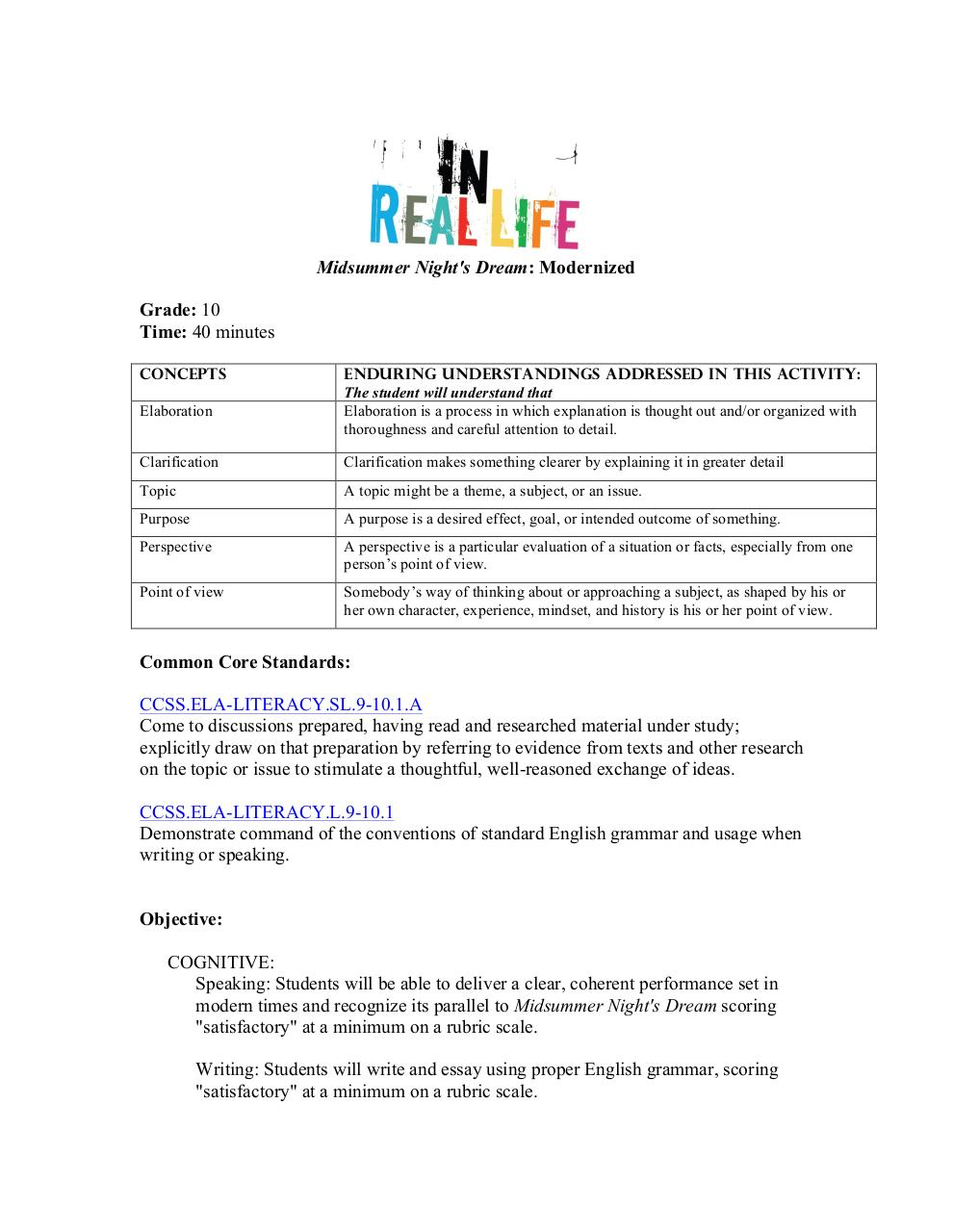 ThingLink MSND Lesson Plan.pdf - page 1/10
