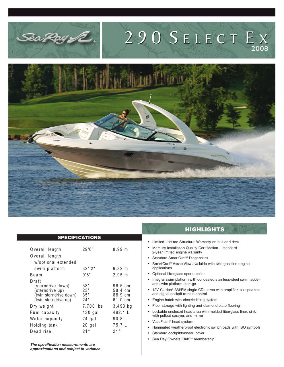 Document preview searay 290 2008.pdf - page 1/4
