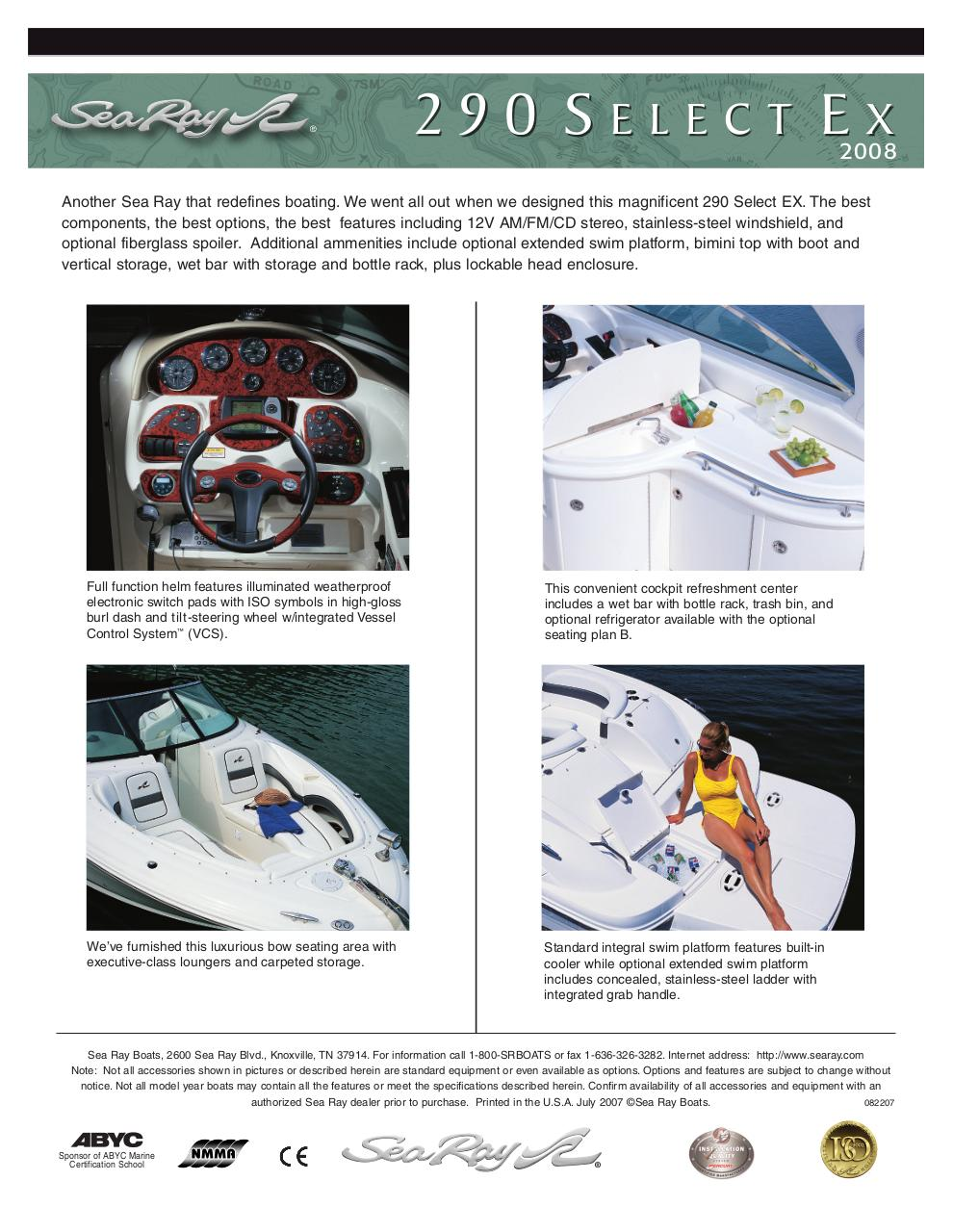 Document preview searay 290 2008.pdf - page 4/4