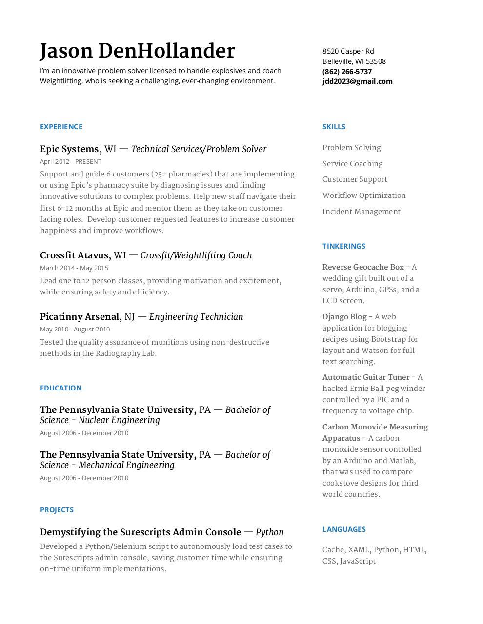DenHollander Resume   PDF Archive
