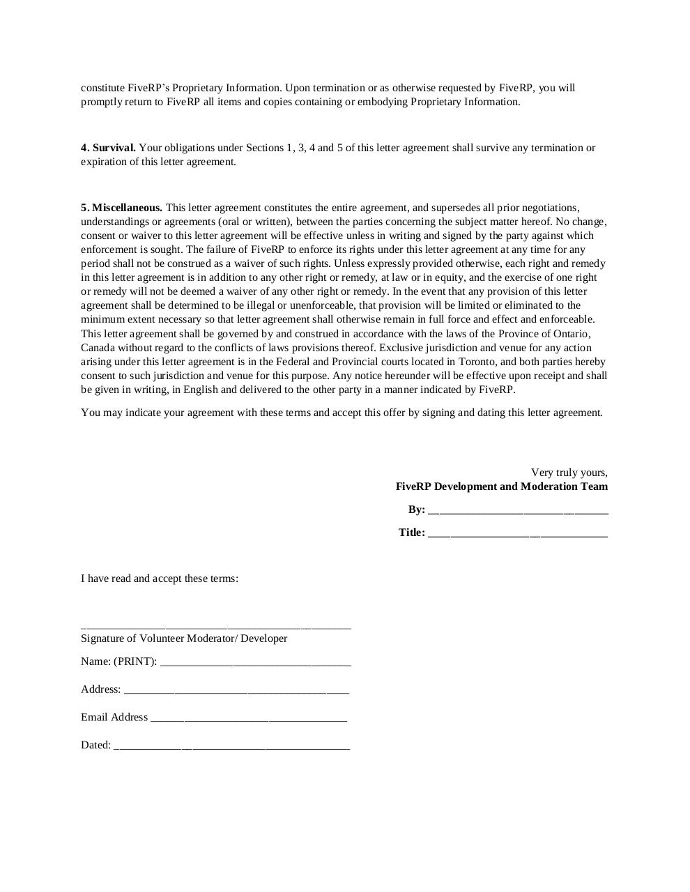 Document preview FiveRP Staff Agreement..pdf - page 2/2