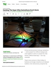 hacking the hype why hackathons don t work techcrunch