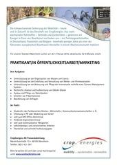 praktikum ffentlichkeitsarbeit marketing bei cropenergies