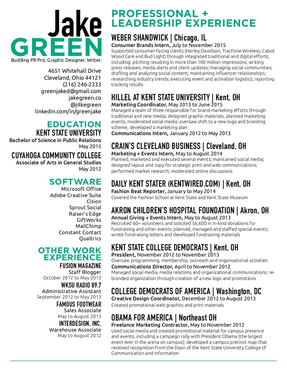 Document preview jakegreenresume.pdf - page 1/1