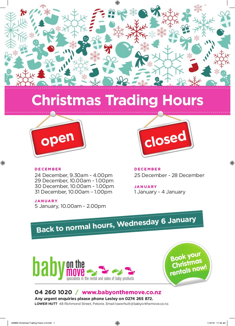 Document preview 6269M Christmas Trading Hours LH.PDF - page 1/1