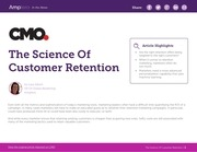 science customer retention