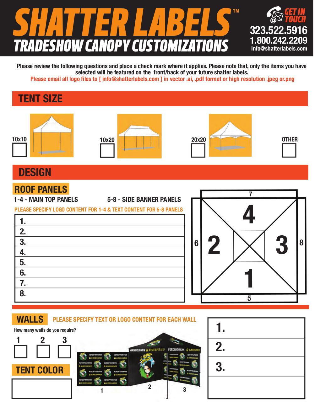SHATTER LABELS TRADESHOW CANOPY QUESTIONNAIRE 1 - PDF Archive