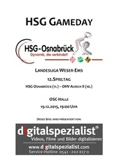 hsg gameday hsg vs ohv aurich ii