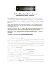 PDF Document tscm quotation info worksheet