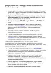 PDF Document regulamin bon 50zl mastercard gg akcja specjalna