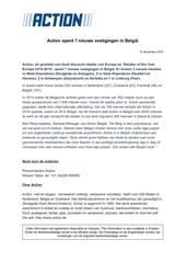 PDF Document action opent 7 nieuwe vestigingen in belgie
