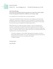 PDF Document cover letter