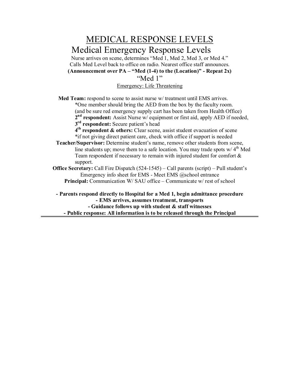 Medical levels explained and sample script .pdf - page 1/6
