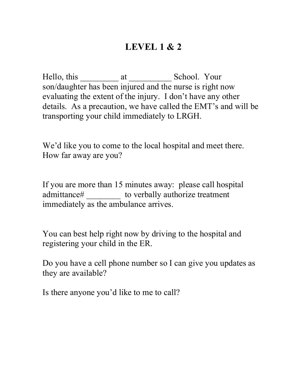 Medical levels explained and sample script .pdf - page 4/6