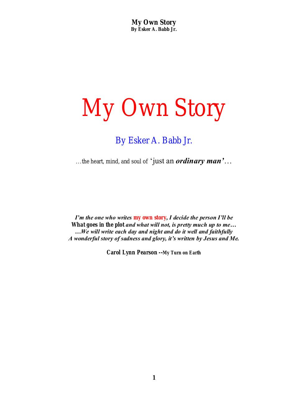 My Own Story-2015 Aug.pdf - page 1/1235