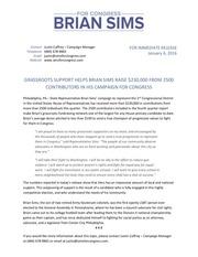 brian sims fundraising announcement