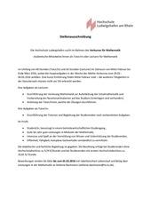 stellenausschreibung hilfskraft mathematiksose16