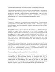 commercial photographer vs photo enthusiast 1