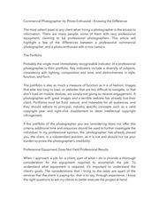 PDF Document commercial photographer vs photo enthusiast