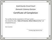 PDF Document certificate of completion