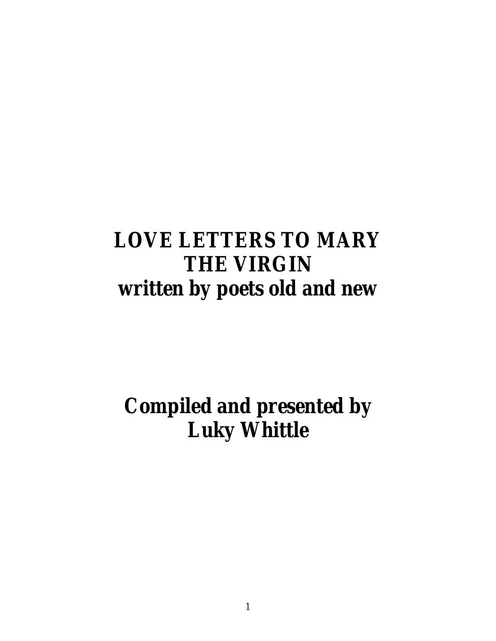 LOVE LETTERS TO MARY.pdf - page 1/111