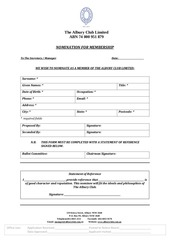 PDF Document albury club nomination form with statement of reference