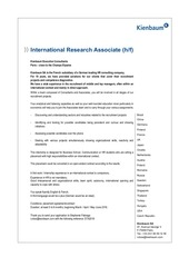 placement international research associate