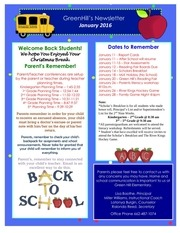 schoolwelcomebacknewsletter january