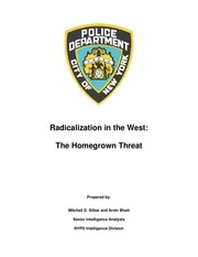 nypd report radicalization in the west