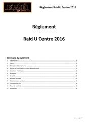 reglement raid u centre 2016