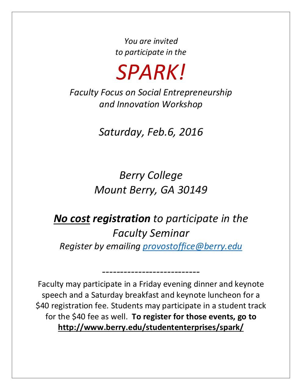Document preview SPARK Faculty Focus Workshop.pdf - page 1/2