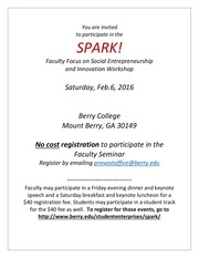 spark faculty focus workshop